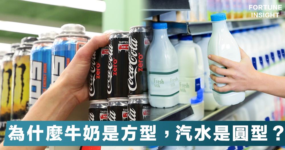 【成本效益】飲品包裝大有學問!為什麼牛奶多用方型盒子,汽水用圓型瓶子?