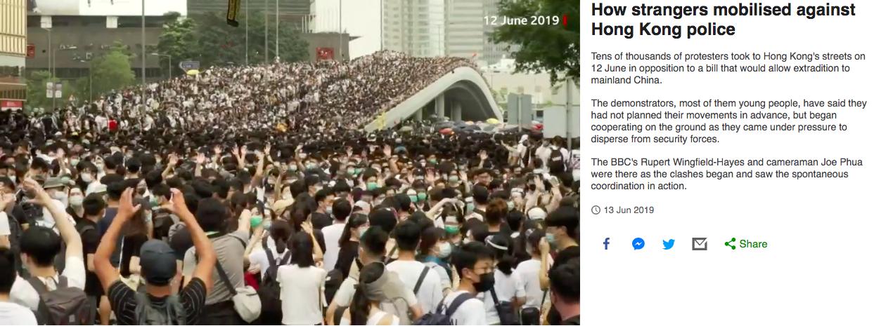 《How strangers mobilised against Hong Kong police》