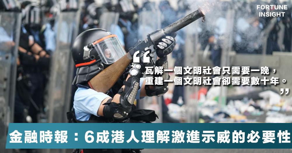 【文明墮落】金融時報社論:最令人震驚的是香港民眾對暴力加劇的容忍