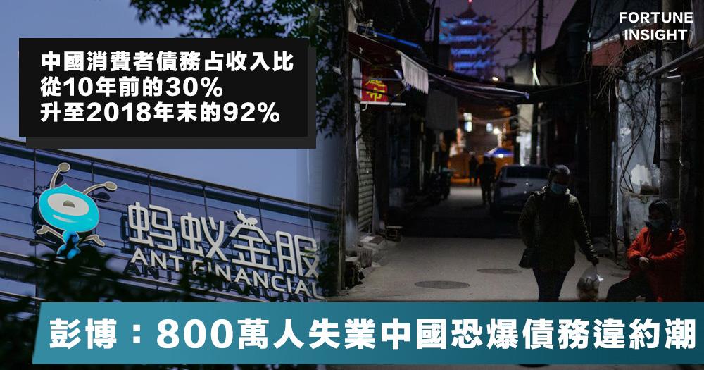 【支爆近了】中國疫情爆發上月800萬人失業,彭博:恐爆債務違約潮。