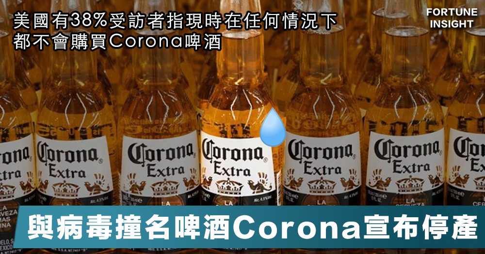 【最怕改壞名】與病毒撞名的墨西哥啤酒Corona宣布配合抗疫而停產