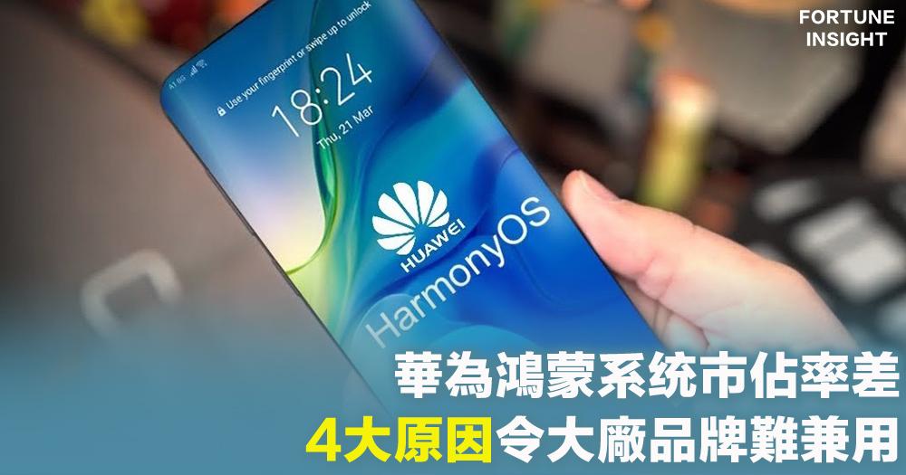 【鴻蒙系统】華為新系统市佔率差 中國媒體指有4大原因令一些大廠品牌難以兼用