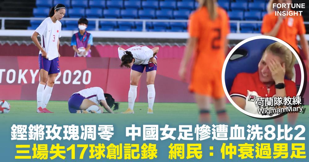 中國女足|鏗鏘玫瑰凋零  慘遭血洗8比2   三場失17球創記錄  網民:仲衰過男足