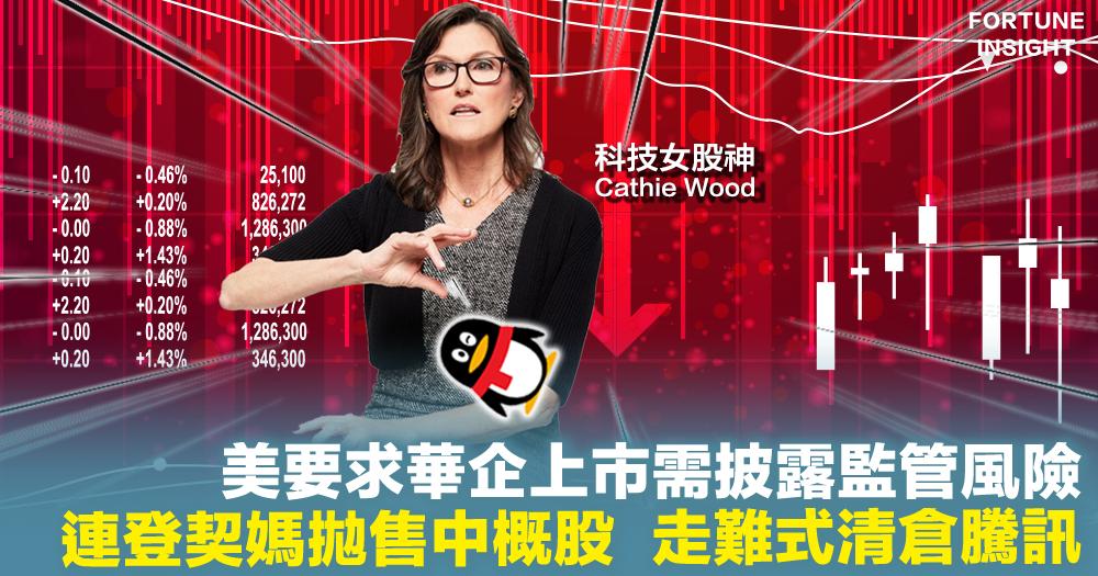 監管風波|美要求華企上市需披露監管風險 連登契媽拋售中概股  走難式清倉騰訊