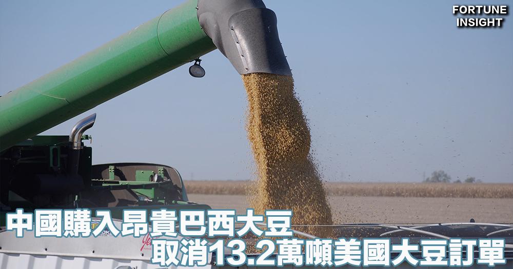 全球船運|中國購入昂貴巴西大豆 取消13.2萬噸美國大豆訂單